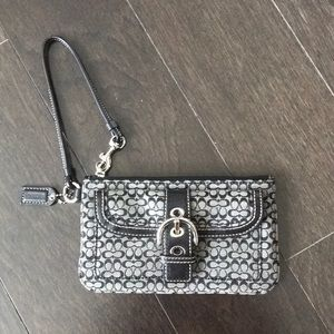Coach Wristlet with classic C pattern